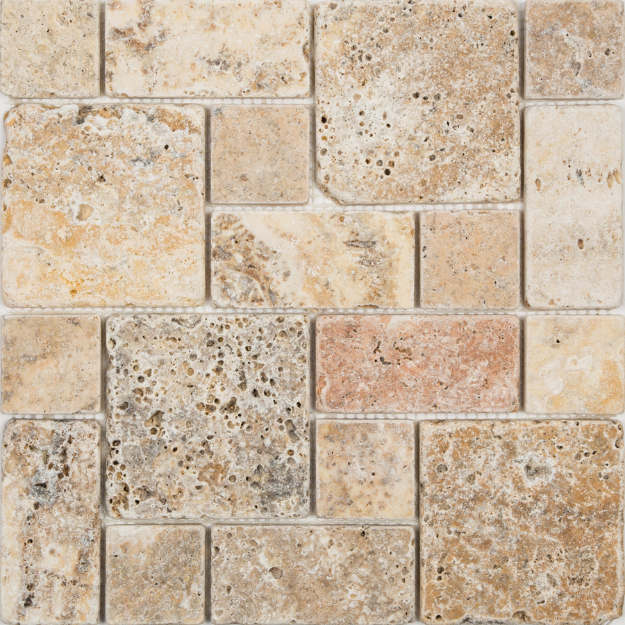 Tile Scabos Natural Stone Mosaic Wall Tile Common 12 In X 12 In
