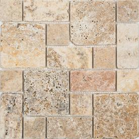 Shop Anatolia Tile Scabos Mixed Pattern Mosaic Natural