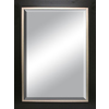 allen + roth 31.5-in x 43.5-in Espresso Rectangle Framed Wall Mirror
