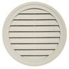 Durabuilt 22-in x 22-in Almond/Pebble Round Plastic Gable Vent