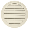 Durabuilt 22-in x 22-in Cream/Pebble Round Plastic Gable Vent
