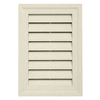 "Durabuilt 20"" x 14"" Rectangular Gable Vent Cream"