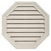 Durabuilt 22-in x 22-in Almond/Pebble Octagon Plastic Gable Vent