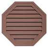 Durabuilt 22-in x 22-in Sedona Red/Pebble Octagon Plastic Gable Vent