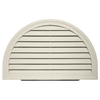 Durabuilt 14-in x 22-in Almond/Pebble Half Round Plastic Gable Vent