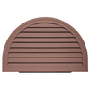 Durabuilt 14-in x 22-in Sedona Red/Pebble Half Round Plastic Gable Vent