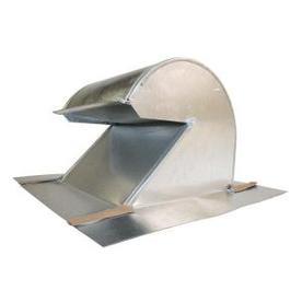 SEMCO Silver Galvanized Steel Round Roof Louver
