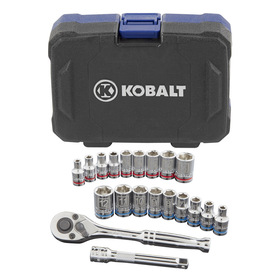 Kobalt 20-Piece Standard/Metric Mechanics Tool Set with Case
