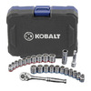 Kobalt 24-Piece Standard/Metric Mechanics Tool Set with Case
