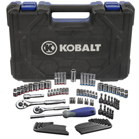 Kobalt 93-Piece Standard (Sae) and Metric Combination Mechanics Tool Set with Case Included
