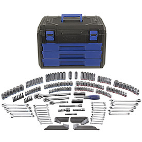 Kobalt Standard (SAE) and Metric Mechanic's Tool Set with Hard Case (227-Piece)