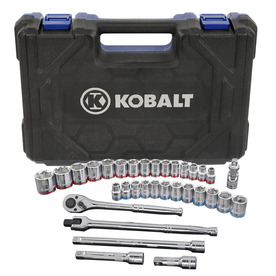 Kobalt 33-Piece Standard (SAE) and Metric Mechanic's Tool Set with Hard Case
