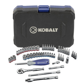 Kobalt 51-Piece Standard/Metric Mechanics Tool Set with Case