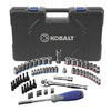 Lowes.com deals on Kobalt 85189 63-Piece Standard/Metric Mechanics Tool Set w/Case