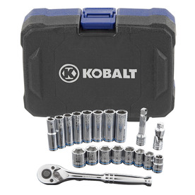 Kobalt 19-Piece Metric Mechanics Tool Set with Case
