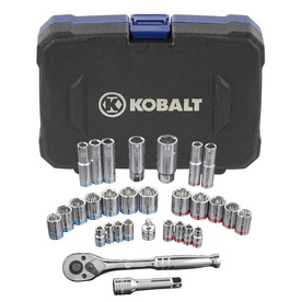 Kobalt Standard (SAE) and Metric Mechanic's Tool Set with Hard Case (30-Piece)