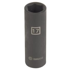 Kobalt 1/2-in Drive 17mm Deep 6-Point Metric Impact Socket