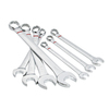 Kobalt 7-Piece Polished Chrome Standard (SAE) Wrench Set
