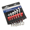 Kobalt 6-Piece Standard Polished Chrome Standard (SAE) Wrench Set