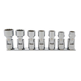 Kobalt 7-Piece Metric 3/8-in Drive 12-Point Flex Socket Set