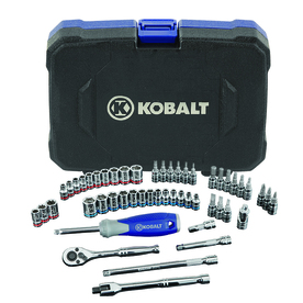 Kobalt 51-Piece Standard (SAE) and Metric Mechanic's Tool Set with Hard Case