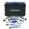 Kobalt Standard (SAE) and Metric Mechanic's Tool Set with Hard Case (51-Piece)