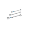 Kobalt 3-Piece Flare Nut Polished Chrome Metric Wrench Set