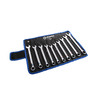 Kobalt 10-Piece Standard Polished Chrome Standard (SAE) and Metric Combination Wrench Set