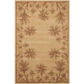 Nourison Somerset Beige Rectangular Indoor Woven Area Rug (Common: 4 x 6; Actual: 42-in W x 66-in L)