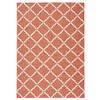 Nourison Home and Garden Orange Rectangular Indoor/Outdoor Machine-Made Area Rug (Common: 7 x 10; Actual: 93-in W x 130-in L)