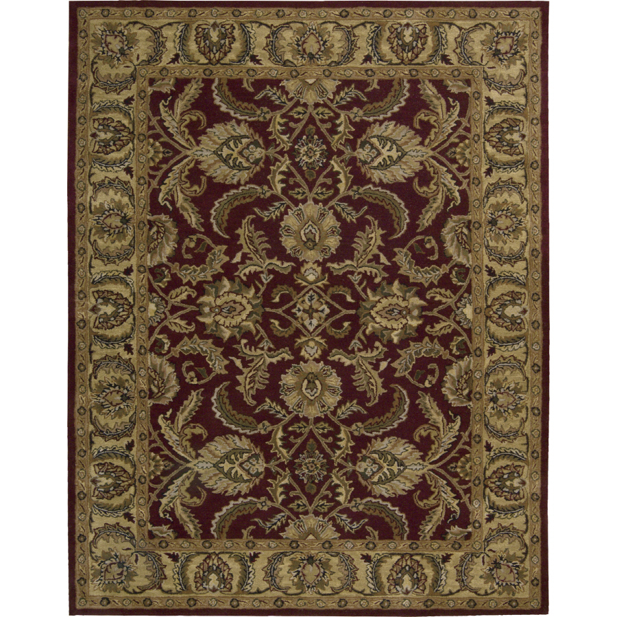 Shop Nourison India House Rectangular Red Tufted Area Rug