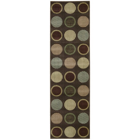 Nourison Yale Brown Woven Runner (Common: 2-ft x 8-ft; Actual: 2.25-ft x 7.5-ft)