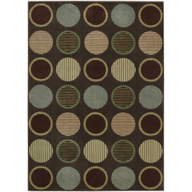 Nourison 5-ft 3-in x 7-ft 4-in Chocolate Yale Area Rug