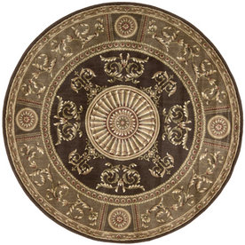 Shop Nourison 6 39 Round Brown Area Rug At