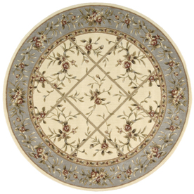 Nourison 5-ft 6-in Round Ivory Sunset Area Rug