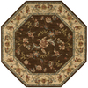 Nourison 6-ft x 6-ft Brown Octagons Area Rug