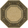 Nourison 6-ft x 6-ft Beige Octagons Area Rug