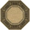 Nourison Vallencierre Beige Octagonal Indoor Woven Area Rug (Common: 8 x 8; Actual: 96-in W x 96-in L)
