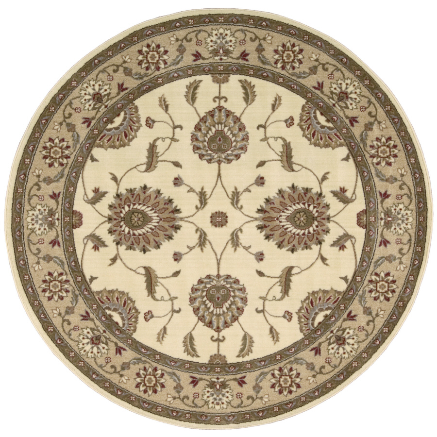 Shop Nourison Sunset Round White Area Rug At