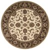 Nourison 5-ft 6-in x Round Sunset White/Ivory Area Rug