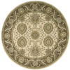 Nourison 5-ft 6-in Round Beige Transitional Area Rug
