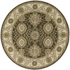Nourison Round Brown Transitional Woven Wool Area Rug (Common: 8-ft x 8-ft; Actual: 5.5-ft x 5.5-ft)