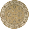 Nourison 5-ft 6-in Round Gold Transitional Area Rug