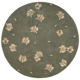 Shop Nourison 8 Ft Round Blue Area Rug At