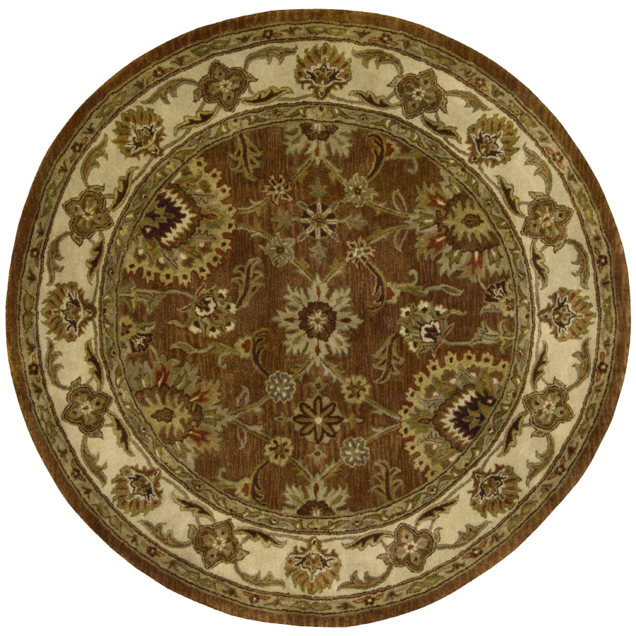 Shop Nourison Rounds Round Red Tufted Area Rug At