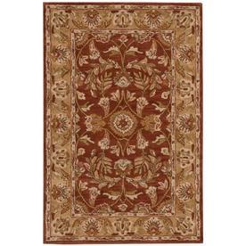 Nourison India House Rust Rectangular Indoor Tufted Area Rug (Common: 5 x 8; Actual: 60-in W x 96-in L)