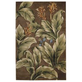 Nourison Tropics Khaki Rectangular Indoor Tufted Area Rug (Common: 8 x 10; Actual: 90-in W x 114-in L)