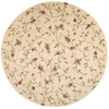 Nourison 8-ft Round Gold Area Rug