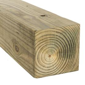 Severe Weather Pressure Treated Pine Lumber (Common: 6-in x 6-in x 16-ft; Actual: 5.5-in x 5.5-in x 16-ft)