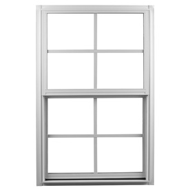 Ply Gem 1500 Series Aluminum Double Pane Single Strength New Construction Single Hung Window (Rough Opening: 36-in x 48-in; Actual: 35.25-in x 47.25-in)